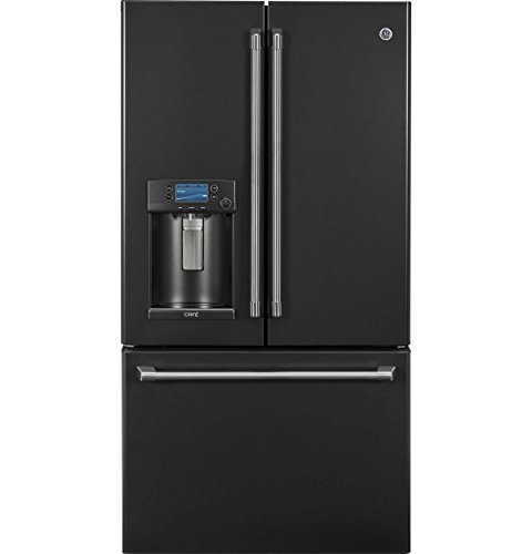 GE Cafe CFE28UELDS 36 Inch Smart French Door Refrigerator with 27.8 cu. ft. Total Capacity, 4 Glass Shelves in Black Slate