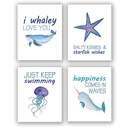 Homdeco Sea Life Art Print Set of 4 (8