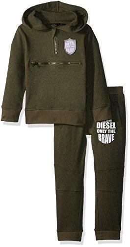 Diesel Toddler Boys' Fleece Jog Set, Military Green Cjjb, 2T