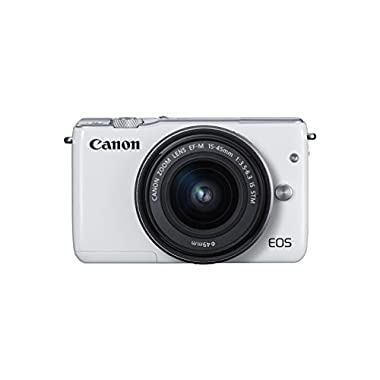 Canon EOS M10 with EF-M 15-45mm Image Stabilization STM Lens Kit (White)