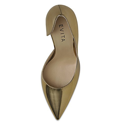 dorado Dorado para Shoes Zapatos Evita de de vestir Piel mujer xOFngwq4