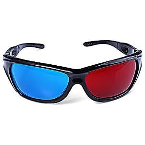 Fjiujin,Gafas de Sol maravillosas Lente roja + Azul Gafas ...