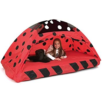 Pacific Play Tents Kids Lady Bug Bed Tent Playhouse - Twin Size  sc 1 st  Amazon.com & Amazon.com: Pacific Play Tents Kids Lady Bug Bed Tent Playhouse ...