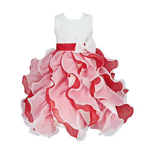 Pageant Dead Girl Costume (Fashionable Trendy Children Girls Princess Bowknot Pageant Sleeveless)