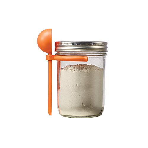 Spoon Clip for Wide Mouth Mason Jars, Orange ()