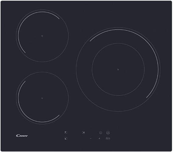 CANDY CID 633C Encimera inducción 60CM, Negro, 590x520x60: 198.44 ...