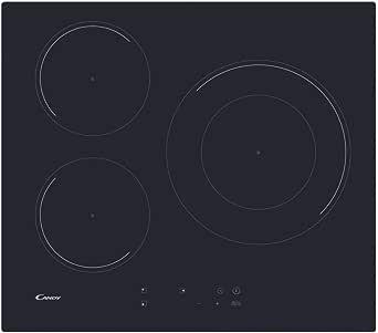 CANDY CID 633C Encimera inducción 60CM, Negro, 590x520x60: 212.6 ...