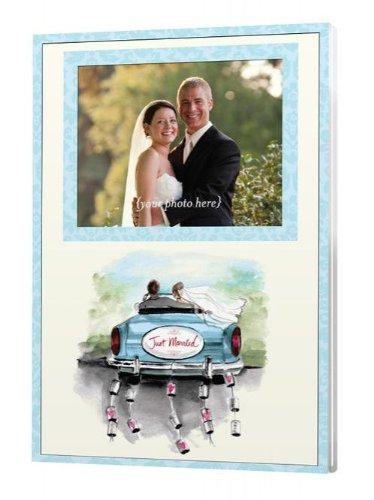 Acrylic Die Cut Magnet - JUST MARRIED BLUE CAR MAGNET