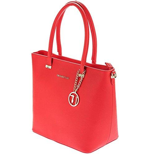 Trussardi Jeans , Sac pour femme à porter à l'épaule rouge rouge