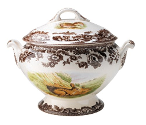 Spode Woodland Covered Soup Tureen with Rabbit, Quail, and ()