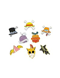 One Piece Brooch Badge Collection Set of 8Pack Gift for Boy and Girls