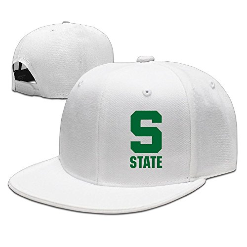 NUBIA Michigan State Logo Outdoor Trucker Cap Snapback Flat Bill Hat - Polaroid Sunglasses Sale