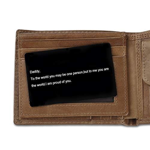 Best Dad Gifts Men' s Wallets - Father Son Gifts Dad Leather Wallet Insert  Card The Perfect Men' s Gift, Father's Day Gifts,Dad Birthday Gifts -