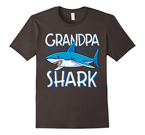 Scuba Diver And Shark Costume (Mens Grandpa Shark T Shirt Family Matching Men Jawsome Gifts Tees XL Asphalt)