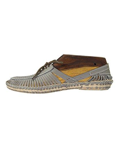 KOLHAPURI CHAPPAL Pantofole Uomo Grigio Grey, Grigio (Grey), 40 EU