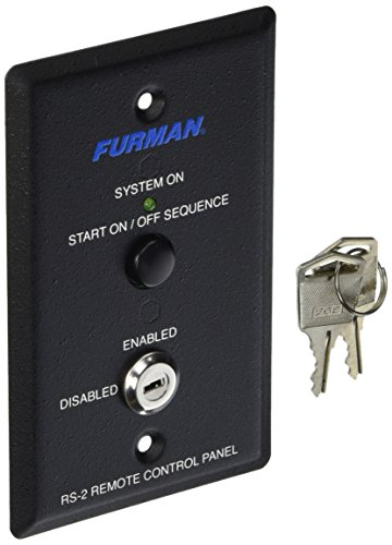 (Furman RS-2 Remote System Control of Furman Power Sequencers, Keyswitch Panel, Maintained or Momentary Contact On/Off Sequence)