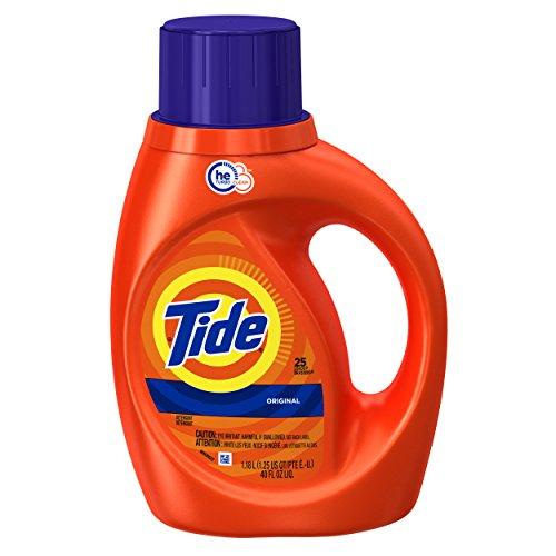 Tide Original Scent HE Turbo Clean Liquid Laundry Detergent, 40 oz, 25 loads (Tide Pods Clean Breeze compare prices)