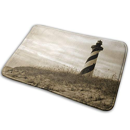 CreateWorld Cape Hatteras Lighthouse Bath Mat Door Mat Entrance Mat Floor Mat Rug Indoor/Outdoor/Front Door/Bath Mats Rubber Non Slip 15.7x23.6 ()