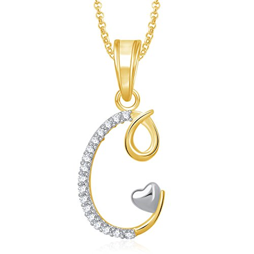Amaal 'L' Alphabet Pendant For Women And Men With Chain PS0321