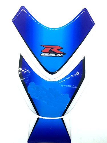 Blue White Motorcycle Protector Gas Fuel Tank Pad Decal Epoxy Sticker for Suzuki GSXR All YEARS ALL ()