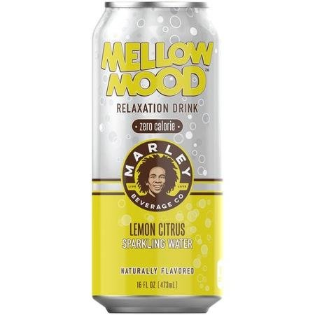 8 Pack - Marley Mellow Mood Relaxation Drink - Zero Calorie - Lemon Citrus Sparkling Water - 16oz. (Rockstar Energy Sparkling compare prices)