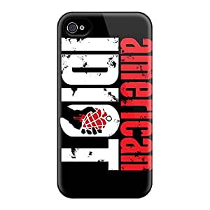 High Quality Mobile Cases For Iphone 4/4s With Custom Attractive Green Day Pictures DannyLCHEUNG