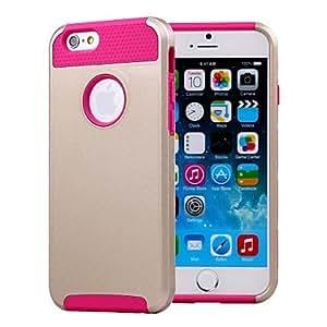 GX dobles conchas diseño de la caja trasera dura de oro con TPU en el interior para el iPhone 6 Plus (colores surtidos) , Black