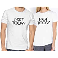 Playeras Elite Got Game Of Thrones Not Today Novios Parejas #527