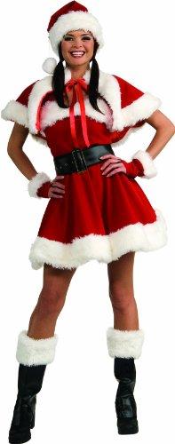 Secret Wishes Velvet Flirty Miss Santa Costume, Red, Small