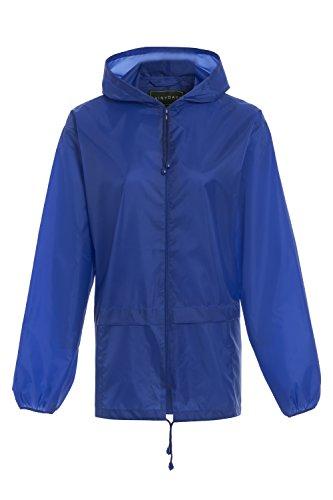 RainyDays Mens Womens Adults Kagool Cagoule Shower Proof Hooded RAIN Coat S M L XL XXL Royal Blue