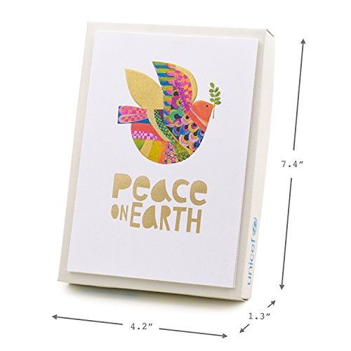 Hallmark UNICEF Christmas Boxed Cards (Peace On Earth Dove Lettering, 12 Christmas Greeting Cards and 13 Envelopes) Photo #7