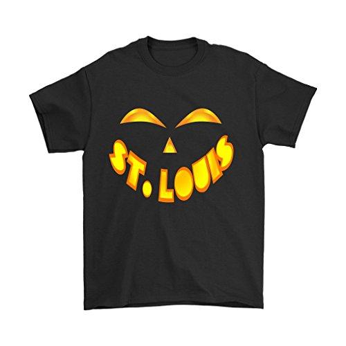 St. Louis Jack O' Lantern Pumpkin Face Halloween Costume Shirt - Men's Sized Tee, Large