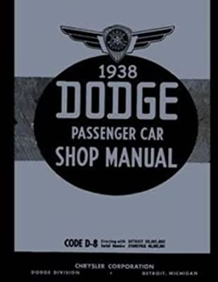 amazon com: factory shop - service manual set for 1938-1939 dodge d8 d11  passenger cars: automotive