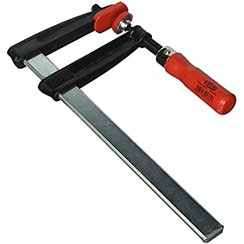 Bessey TGRC25 Screw Clamp Tgrc 9.84In//4.72In of Cast-IRON Black//Red//Silver