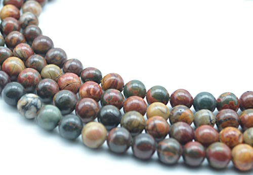 Catotrem Picasso Beads Natural Well Polished Round Loose Bead Energy Gemstone Healing Power for Jewelry Making 1strand 15inch 8mm