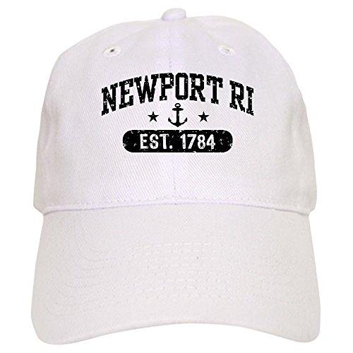 CafePress Newport Rhode Island Baseball Cap with Adjustable Closure, Unique Printed Baseball Hat White ()