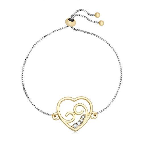 CHUANGYUN Love Theme Hollow Heart Shape with Spray Spindrift Charm Telescopic Bracelet for Women Girls (Telescopic Spray)