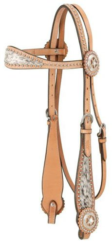 - Royal King Texas Star Browband Headstall Med Oil