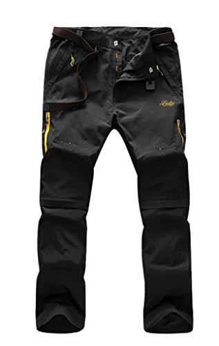 Geval Men's Windproof Quick Drying Outdoor Pants(Black,M)