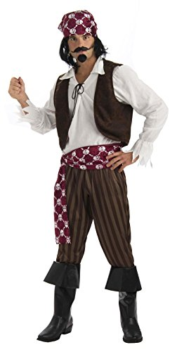 Shipwrecked Pirate Costume for Adults White