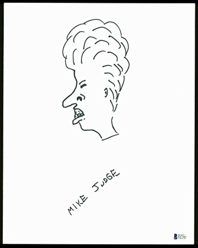 (Mike Judge Beavis & Butthead Authentic Signed Board w/Beavis Sketch BAS #E67583)