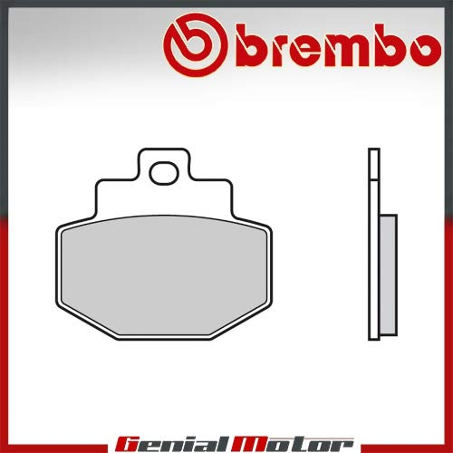 07047.CC Hinteren Brembo CC Bremsbelage fur VESPA GTS SUPER SPORT 300 2011  2013