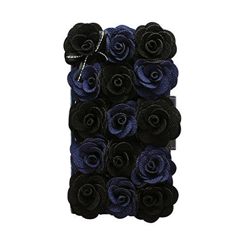 Mr.H Bella Rosette Diary Case [Black Flower] for iPhone7 (Bella Rosette)