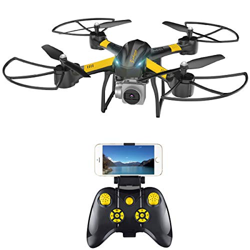 Drone with Camera, VIFLYKOO Q20 FPV RC Drone with 720P HD Camera Live Video Headless Mode 2.4GHz 4 Channel 6 Axis Gyro RTF RC Quadcopter