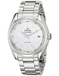 Omega Men's 23110396002001 Stainless Steel Watch with Triple-Link Bracelet