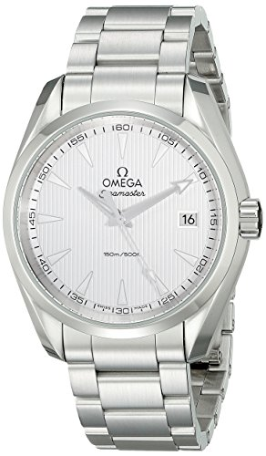 Omega Quartz Bracelet - Omega Men's 23110396002001 Stainless Steel Watch with Triple-Link Bracelet
