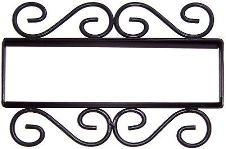 Fine Crafts Imports Wrought Iron House Number Frame Hacienda 5