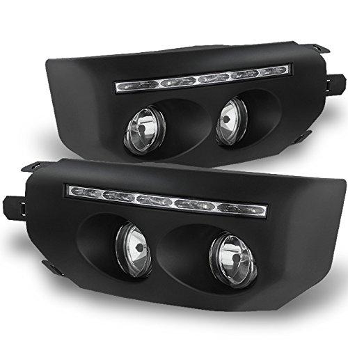 For Toyota FJ Cruiser Black Bezel Clear Lens LED DRL Daytime Running Strip Fog Light W/Switch + Bulbs (Toyota Fj Cruiser Navigation)