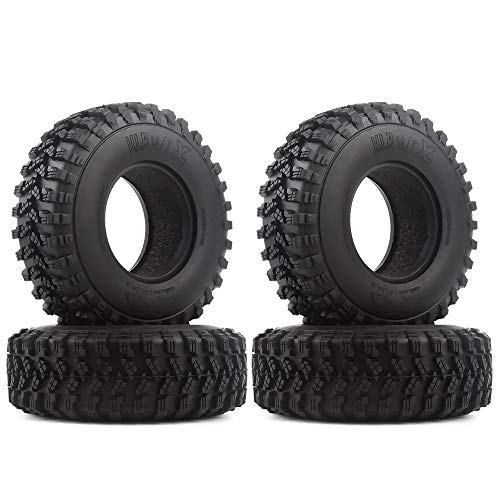 1.9 Voodoo KLR Rubber Tire for 1:10 RC Rock Crawler Axial SCX10 D90 TF2 MST Tamiya