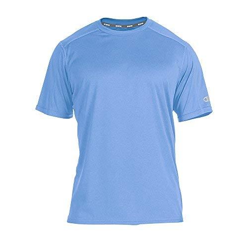 Champion Men's Big-Tall Powertrain Solid T-Shirt_Candid Blue